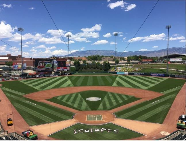 "Majoring In the Minors: Isotopes' Groundskeeper Wins Inaugural ""Stars and Stripes"" Award"